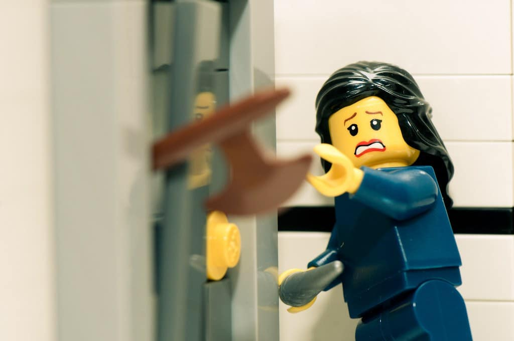 Last week Carol Browne suggested movie scene based shots as some LEGO picture ideas. She had originally suggested Reservoir Dogs unfortunately I don't quite have enough minifigs in suits. In the meantime here's a shot from The Shining.