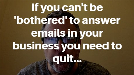 why aren't you answering your emails