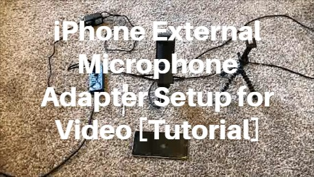 iPhone External Microphone Adapter Setup