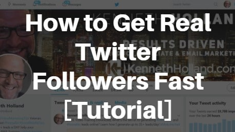 Get Real Twitter Followers Fast - Kenneth Holland